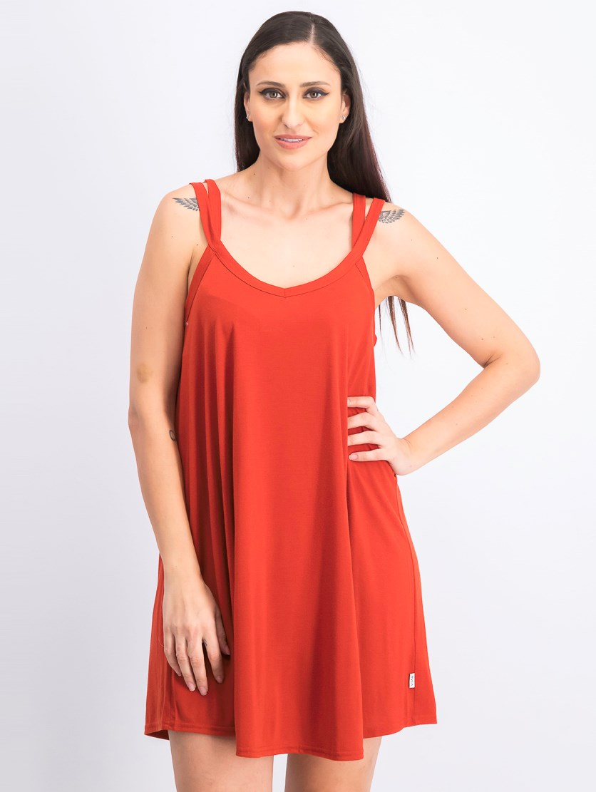 Juniors Like It Swing Dress, Red Rust