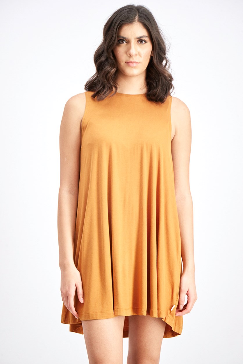 Women's Sleeveless Swing Dress, Pumpkin Spice
