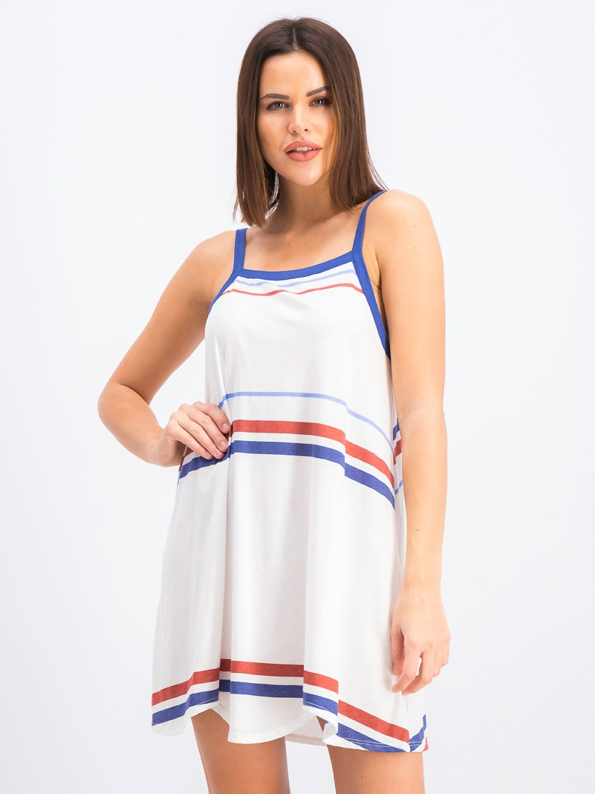 Women's Chivilry Dress, White/Blue