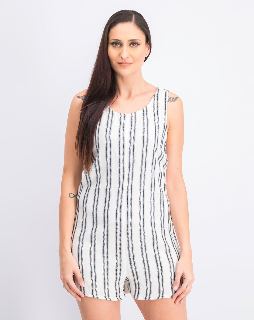 Women's Randy Romper, Black/White