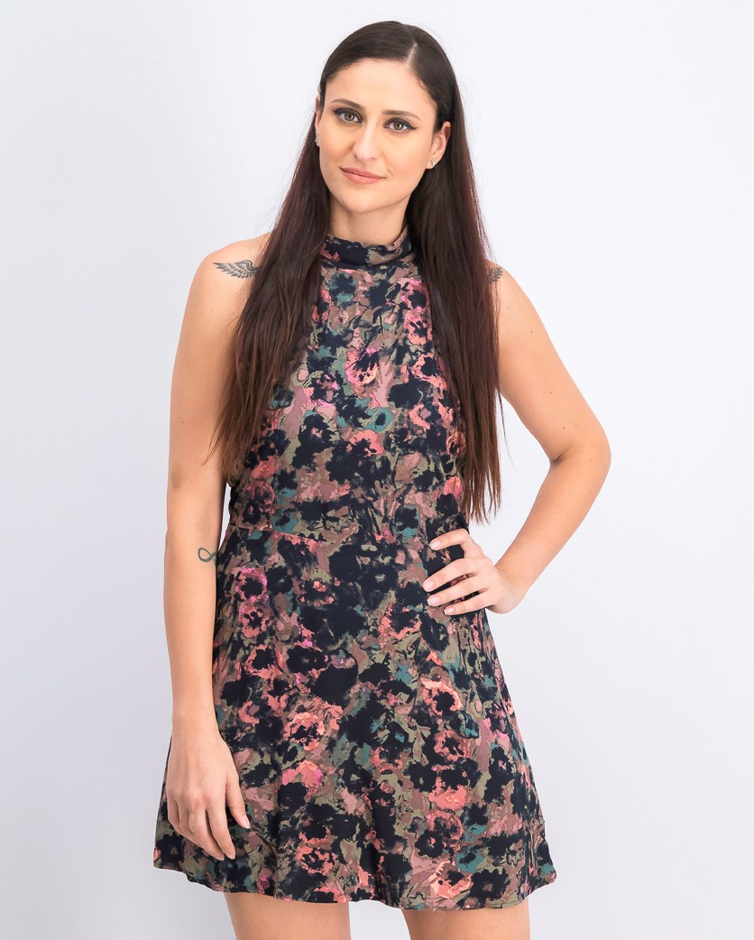 Women's Kingsman Floral Dress, Black Combo