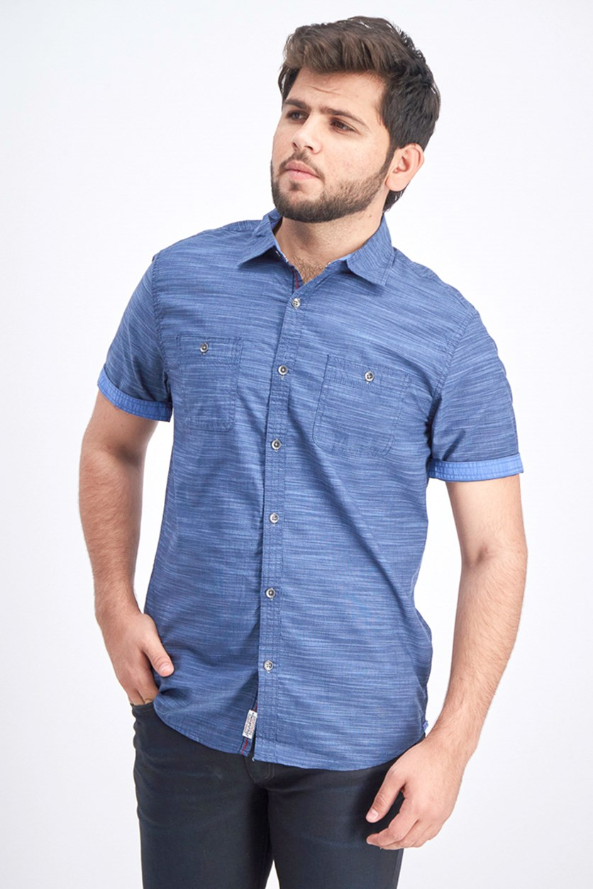 Men's Short Sleeve Shirt, Navy Blue