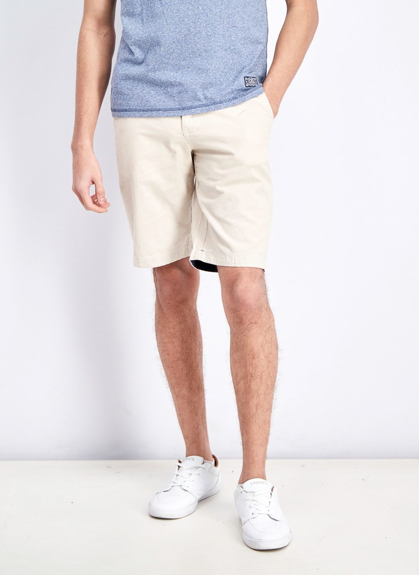 Men's Linen Short, Silver Birch