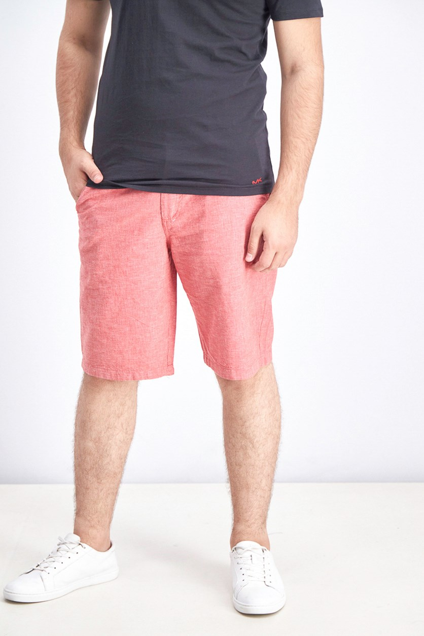 Men's Linen Short, Red
