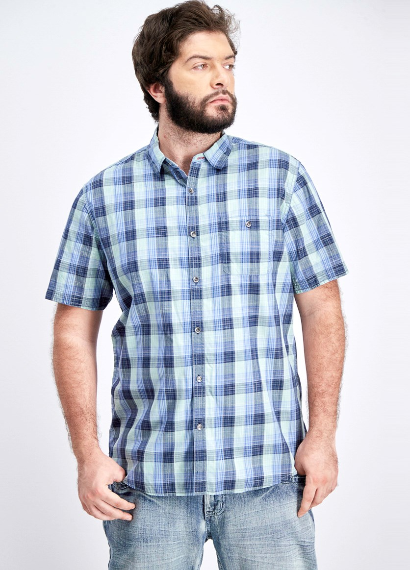 Men's Ardmore Plaid Shirt, Blue/Green Combo