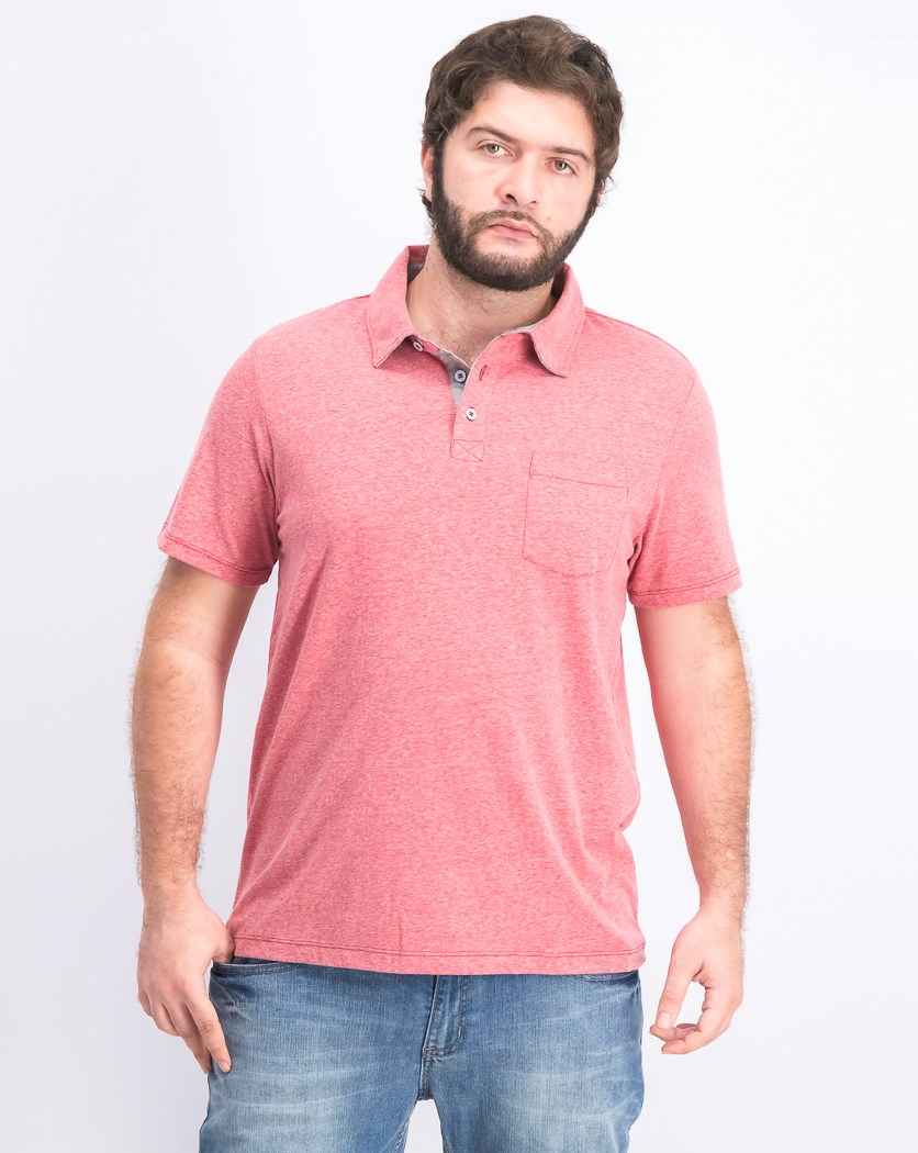 Men's Short Sleeve Polo Shirt, Red