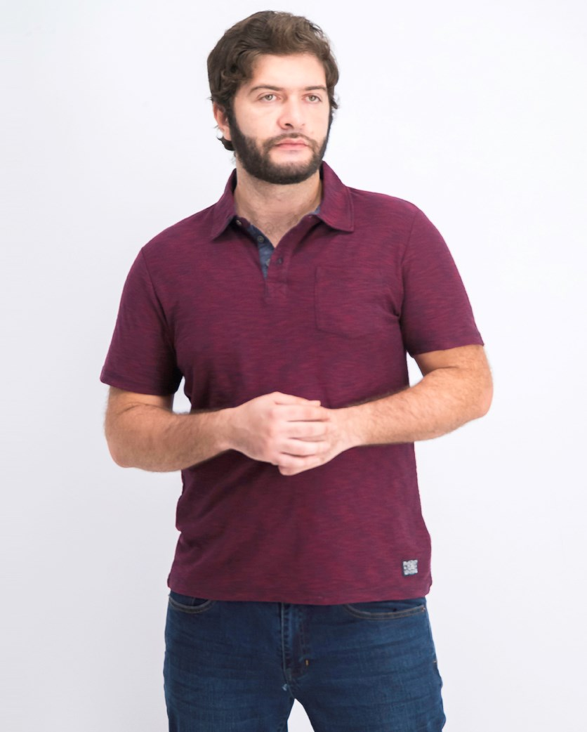 Men's Polo Shirt, Maroon/Navy