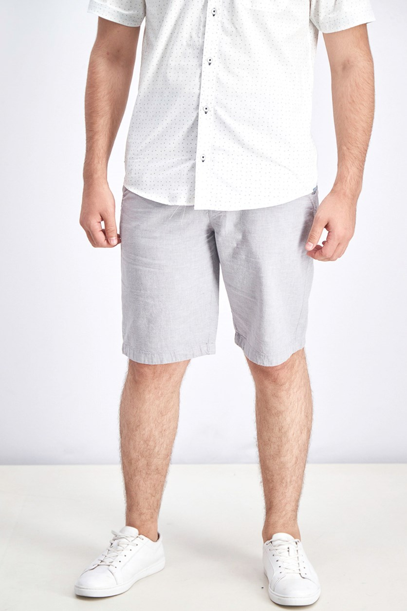 Men's Linen Short, Grey Stone