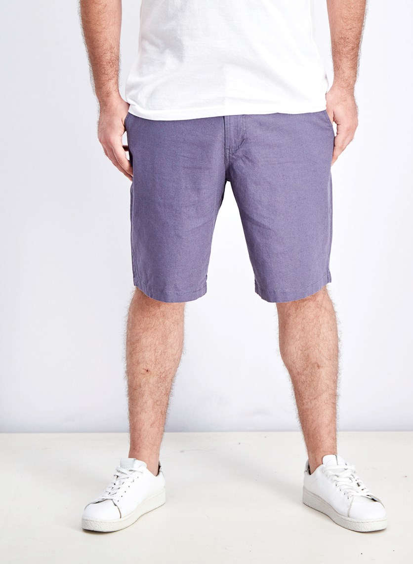 Men's Belt Loops Chino Short, Greyish Light Blue