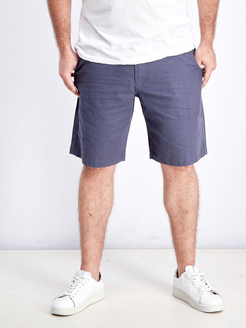 Men's Belt Loops Chino Short, Greyish Blue