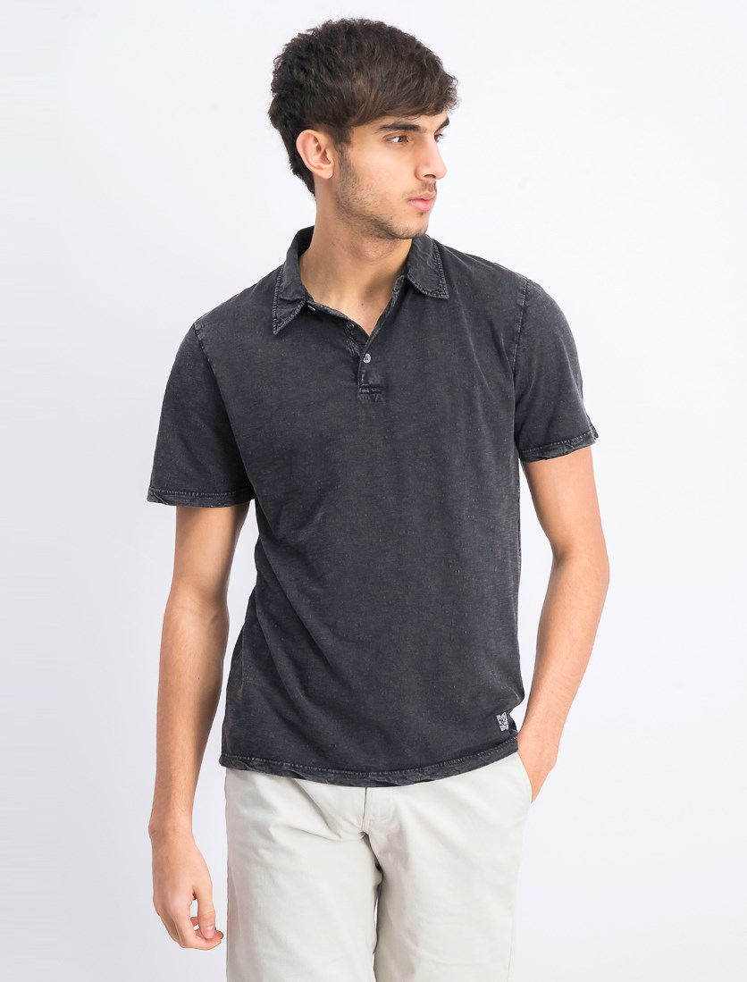 Men's Short Sleeve Polo Shirt, Charcoal