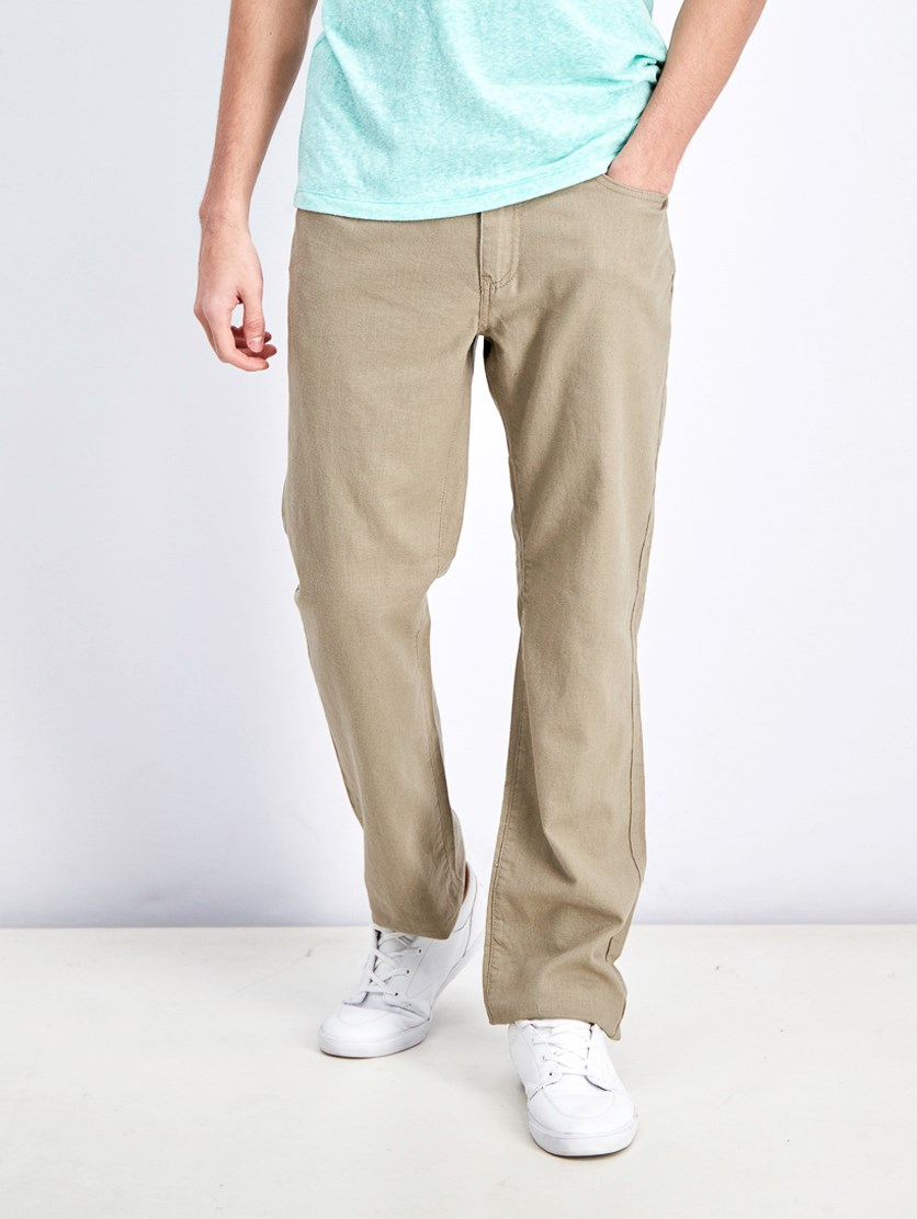 Men's Nashville Straight Pants, Bamboo Khaki