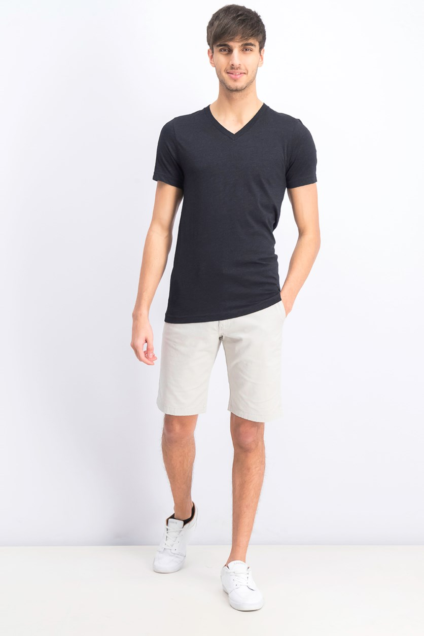 Men's V-Neck T-Shirt, Black