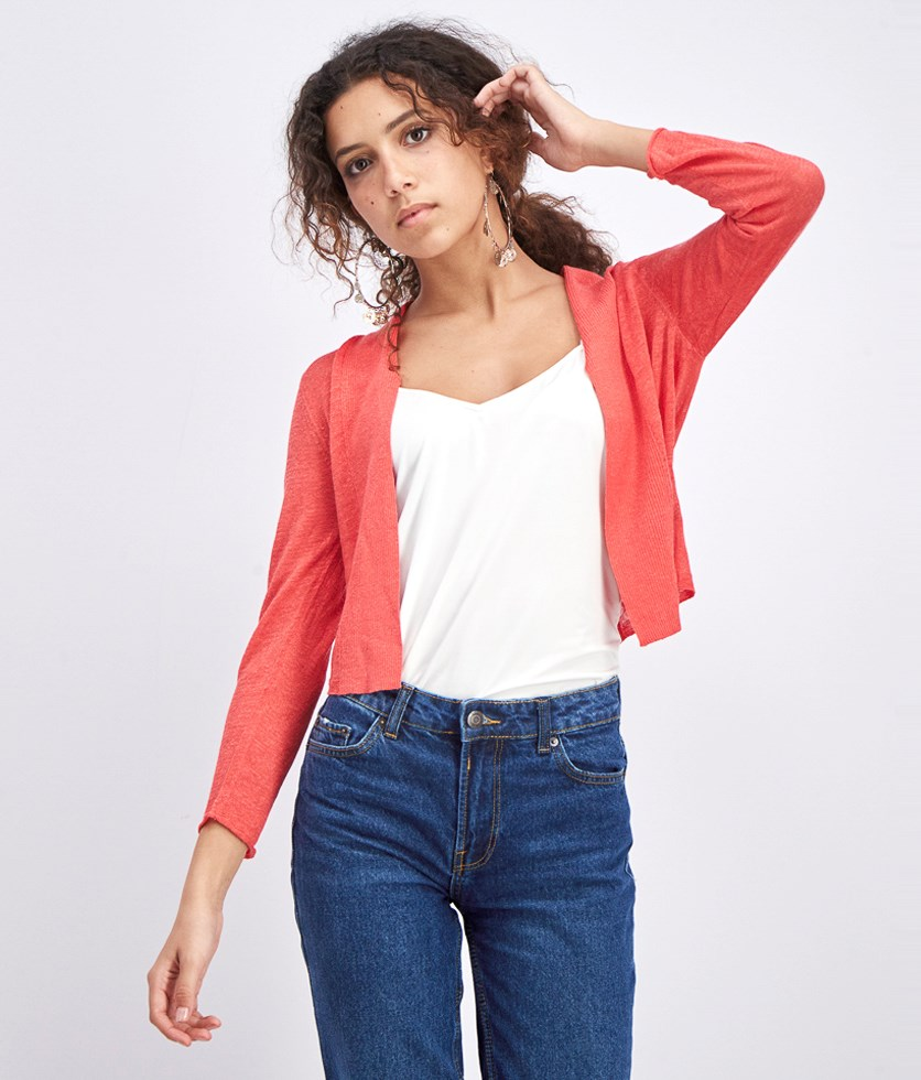 Women's  Daybreak Open Front Cardigan, Red