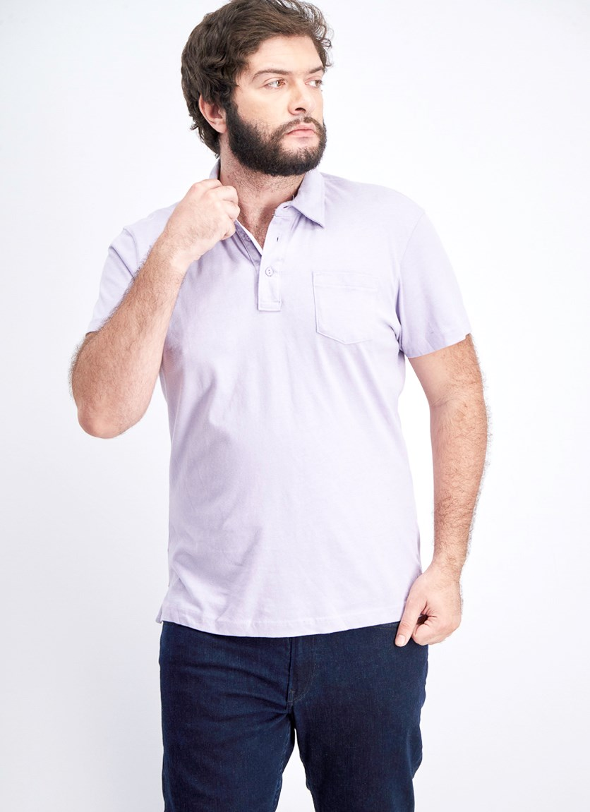 Men's Short Sleeve Polo Shirt, Orchid Pearl