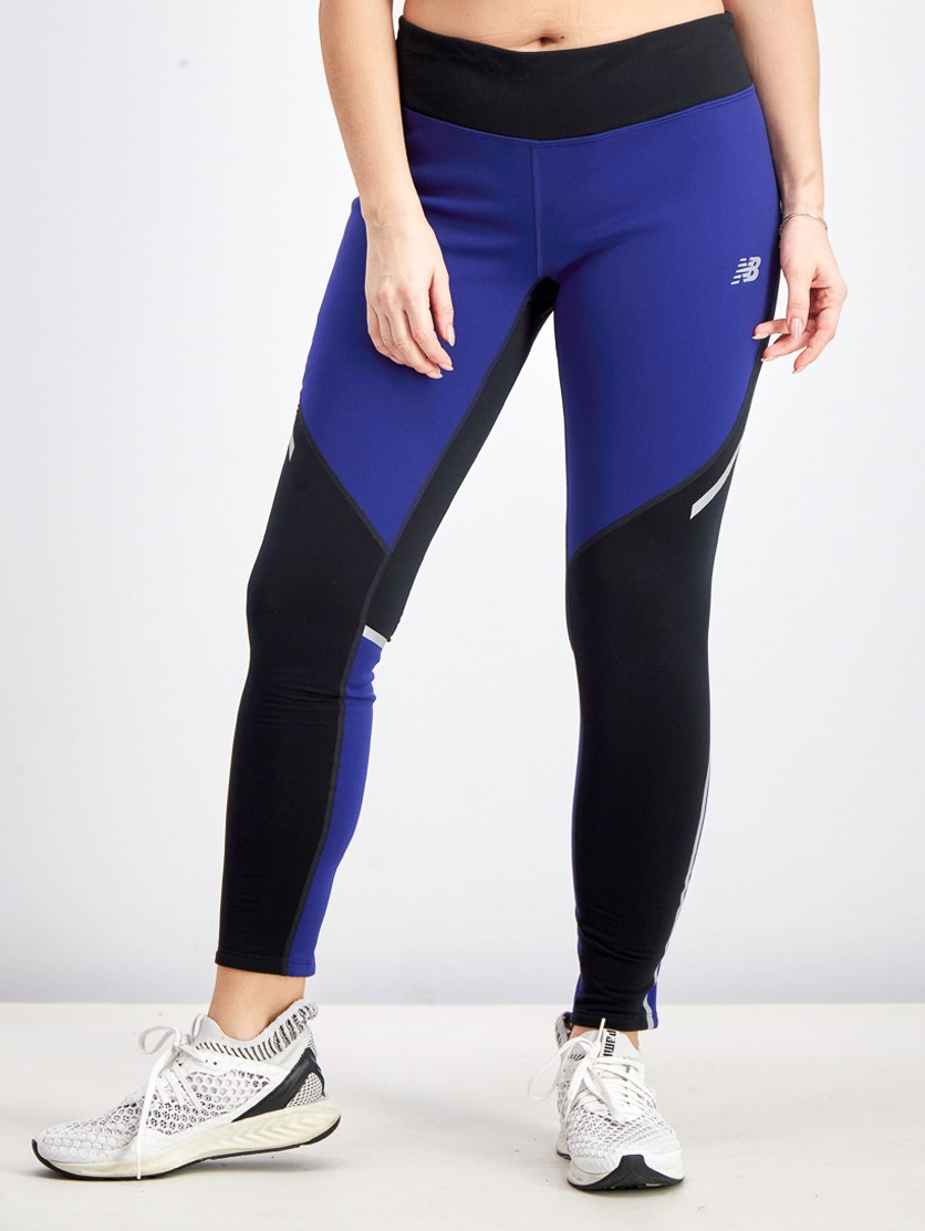 Women's Sports Widblocker Tights, Blue/Black