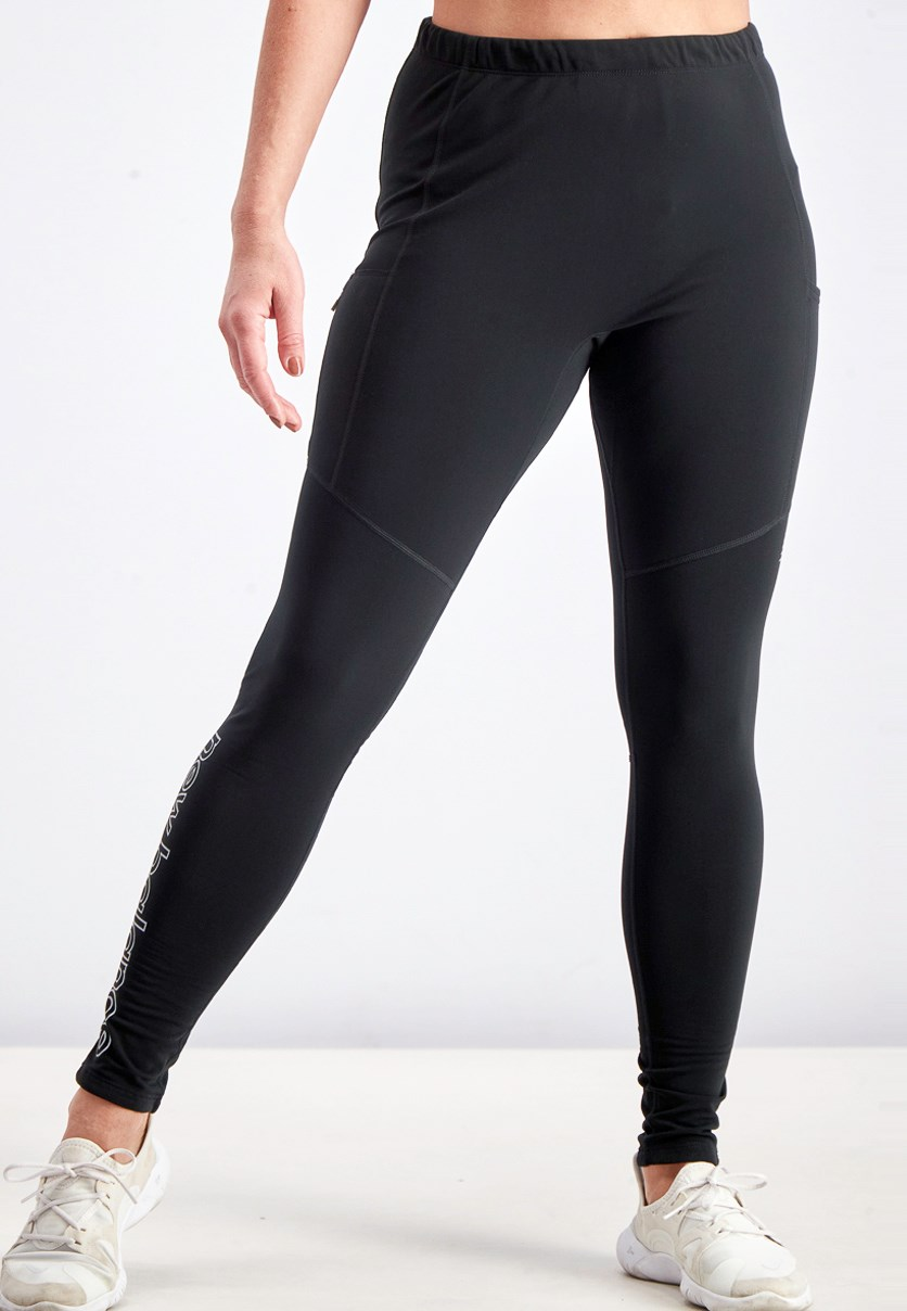 Women's Pull On Sports Tights, Black