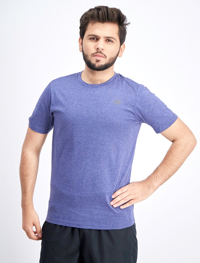 Men's Heather Tech T-Shirt, Blue