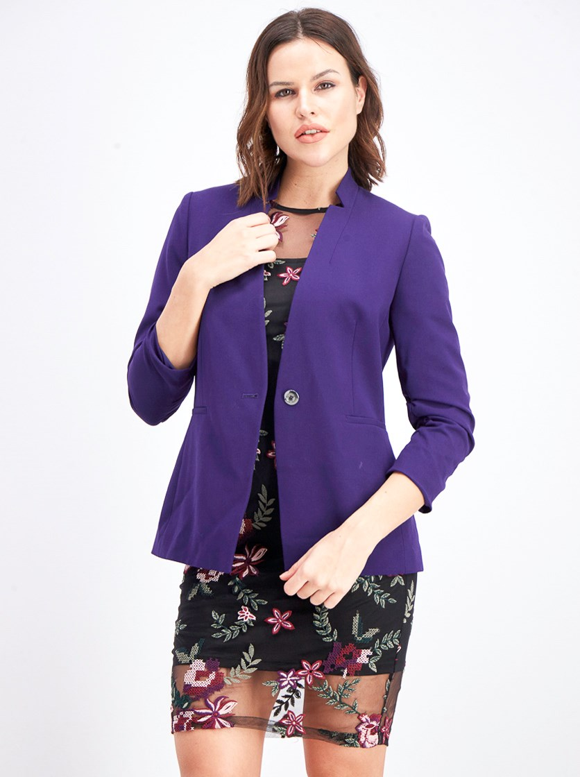 Women's Saylor Notch Collar  Blazer, Purple