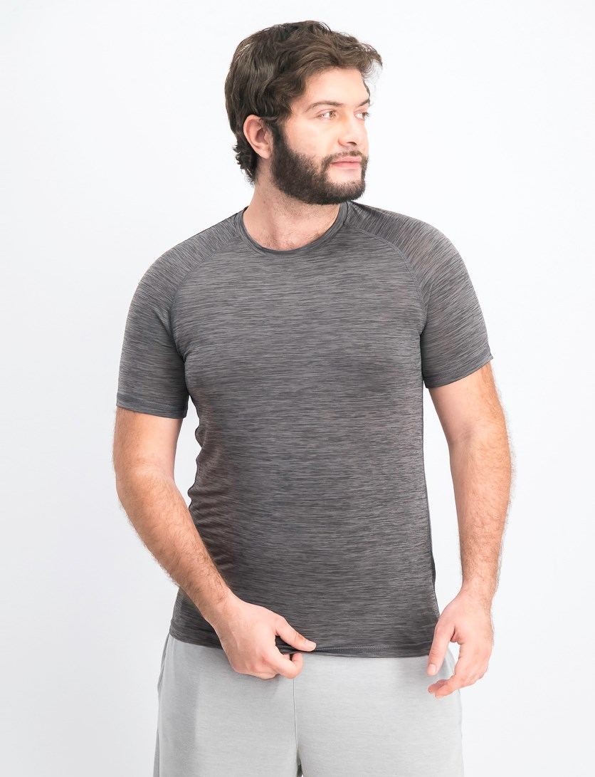 Men's Geo Jacquard Tee, Steel Gray
