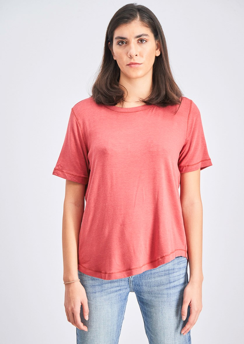 Women's Pullover Blouse, Clay Red