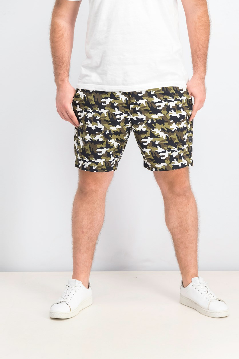 Men's Camo 7 Shorts, Olive/Black