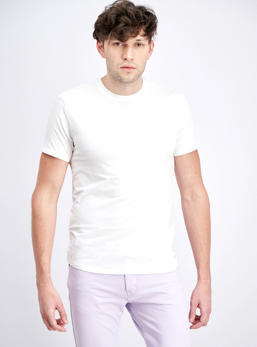 Men's Stretch Factor 2 Crew Necks Under Shirt, White