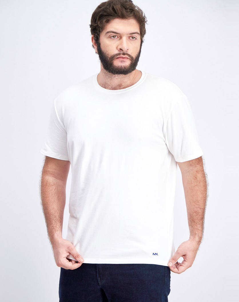 Men's Stretch Factor 2 Crew Neck Under Shirt, White