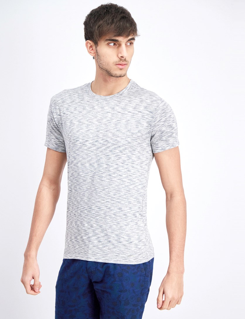 Men's Dynamic Stretch Crew Neck, White Heather