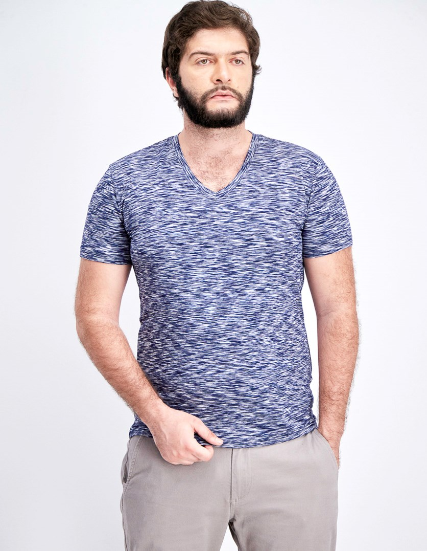 Men's Dynamic Stretch V-Neck, Navy