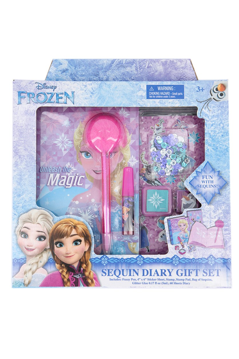 Frozen Sequin Diary Gift Set, Blue/Pink
