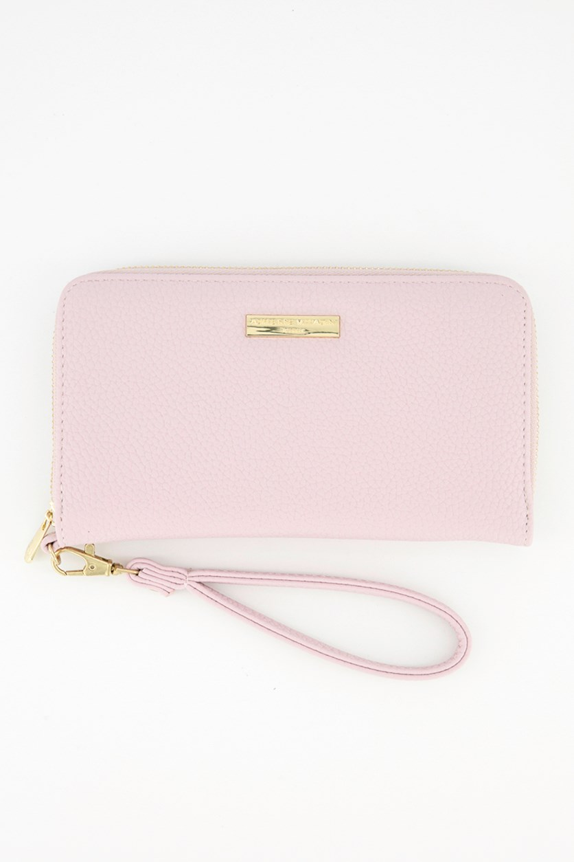 Wrislet Zip Around Wallet, Blush Pebble