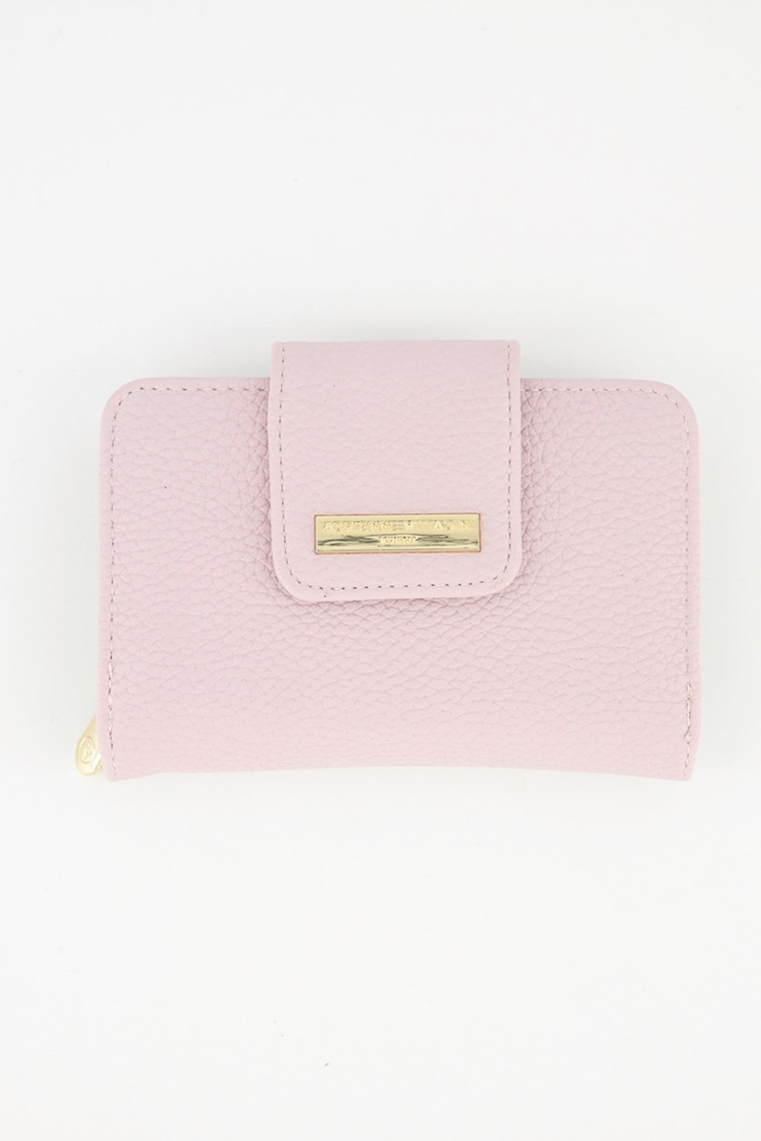 French Purse Wallet, Blush Pebble