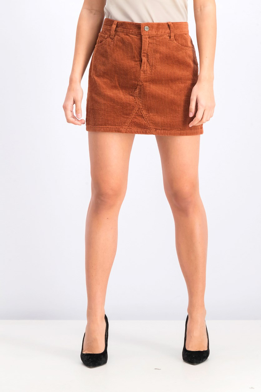Women's Corduroy Ryan Mini Skirt, Brown