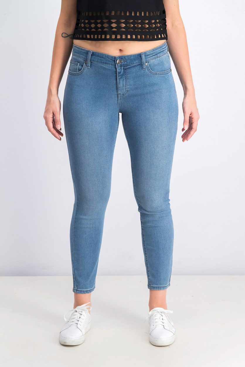 Women's Mid Rise Stretch Super Soft Ankle Jeans, Blue