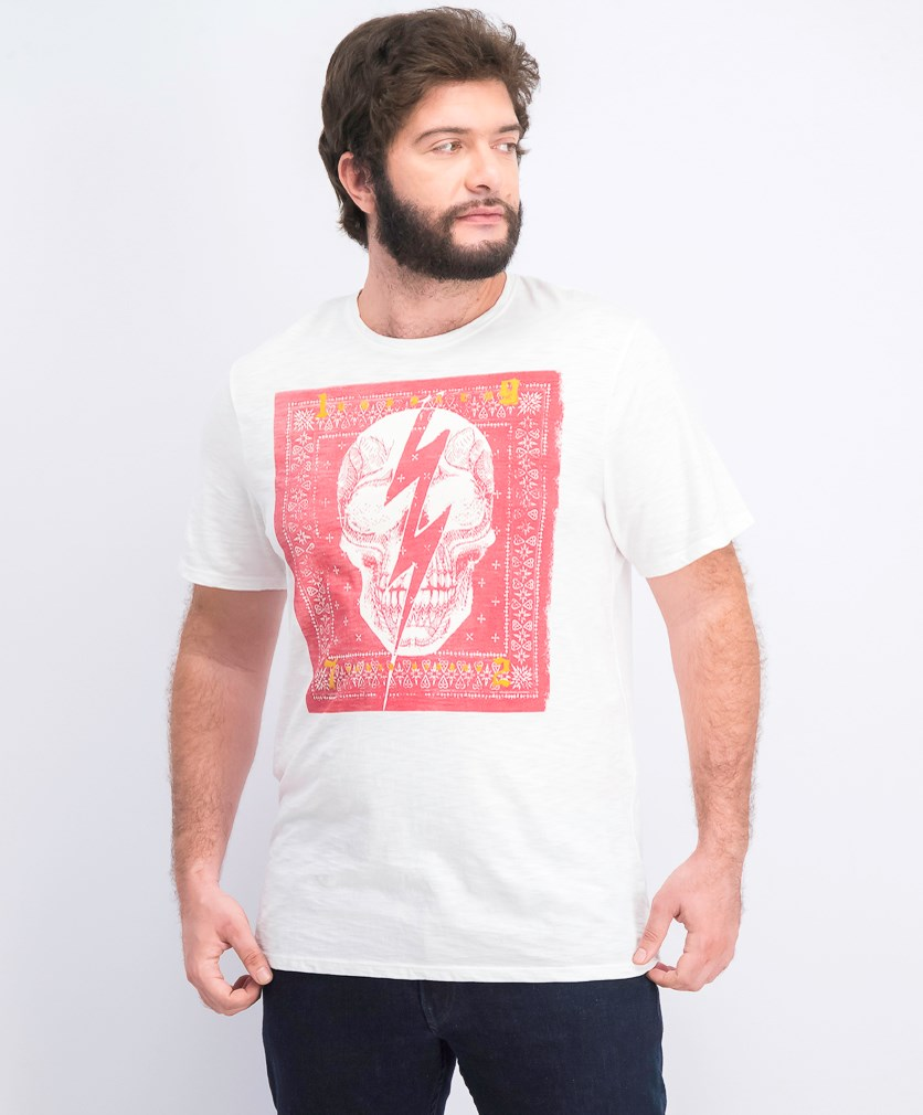 Men's Graphic-Print T-Shirt, White