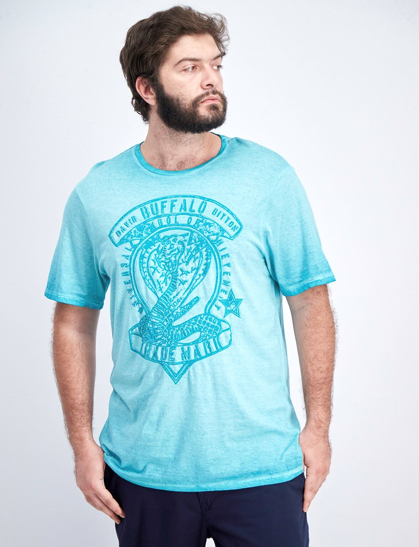 Men's Tubad Graphic T-Shirt, Turquoise Wash