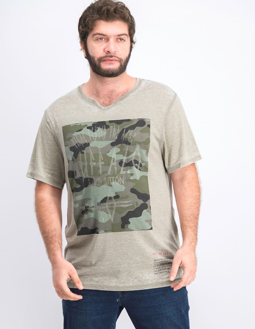 Men Kapalm Short Sleeves T Shirt, Heather Pine Bark