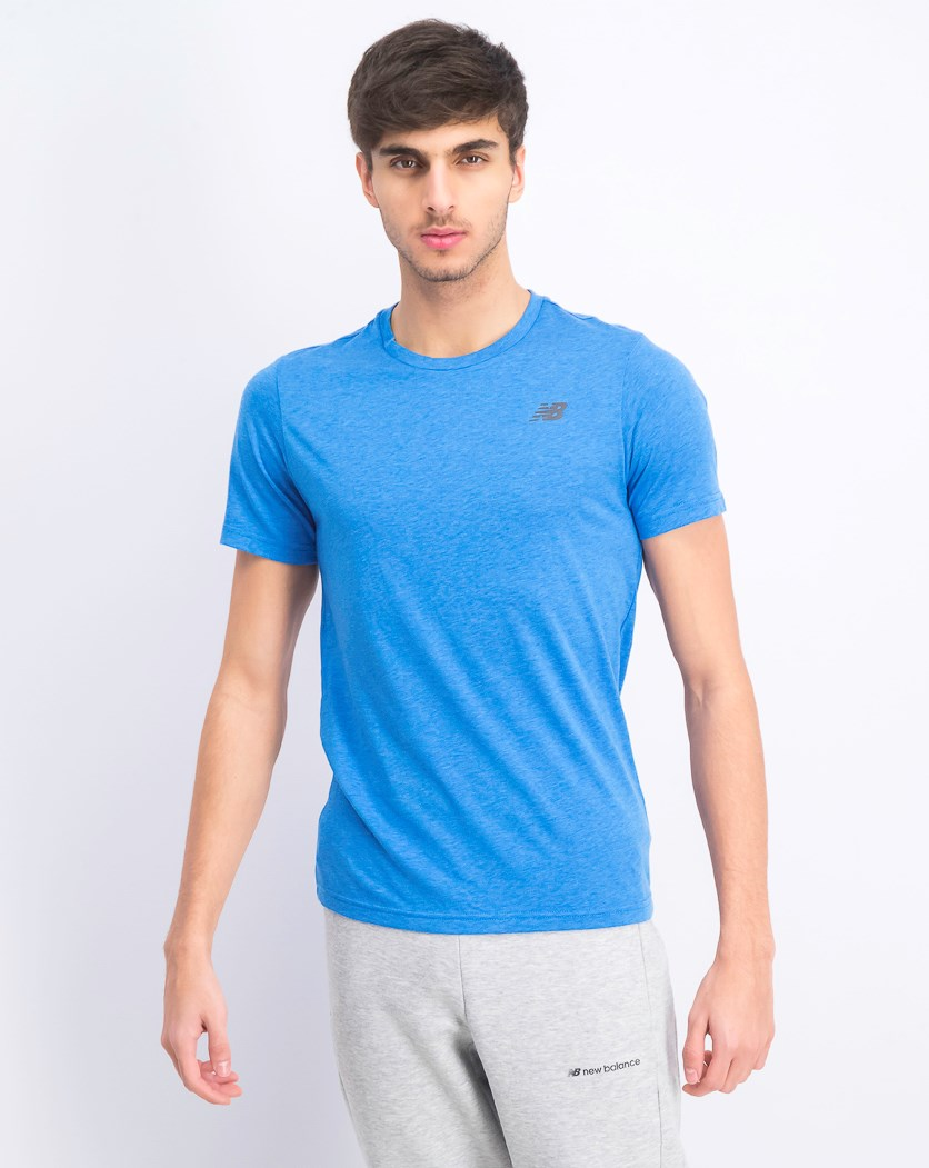 Men's Heather Tech T Shirt, Blue