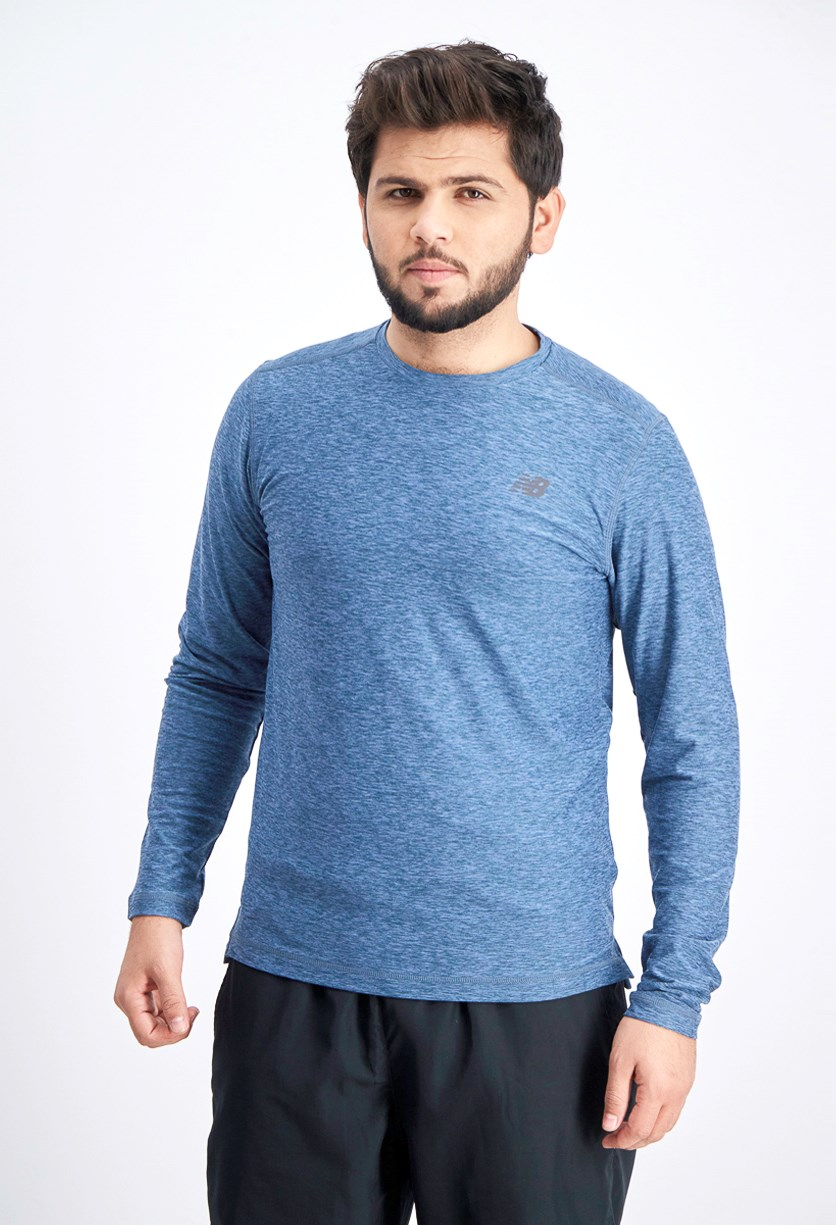 Men's Long Sleeve Top, Space Dye