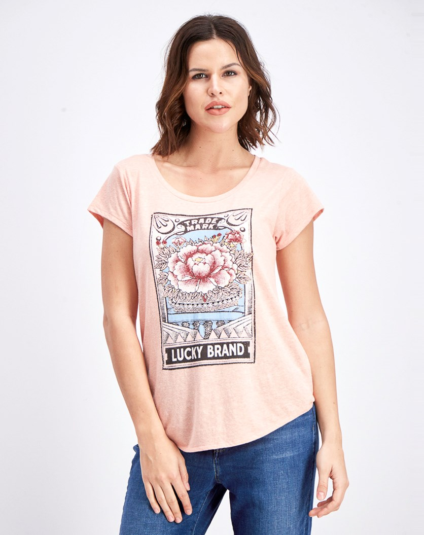 Women's Graphic Heather T-Shirt, Pink