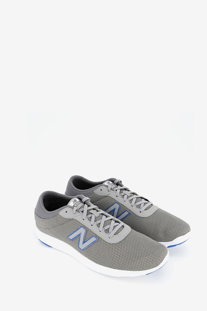 Men's Running Course Shoes, Grey/Blue