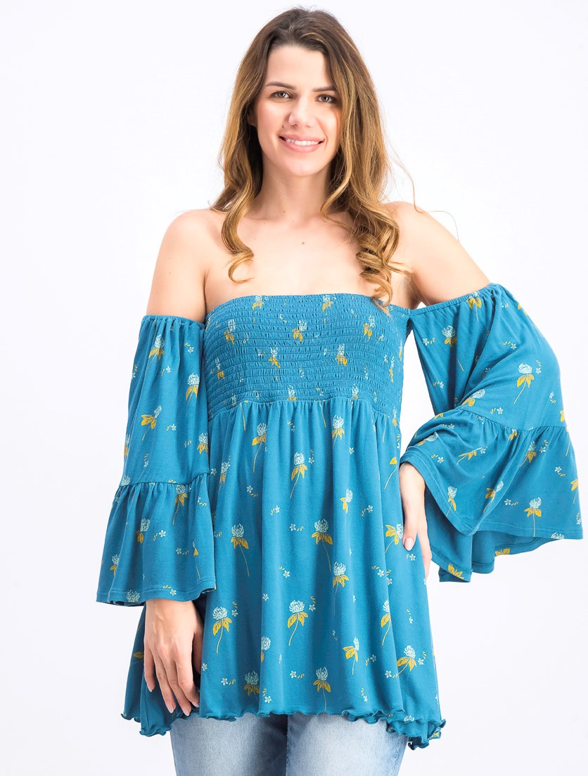 Women's Lana Off The Shoulder Tunic, Blue