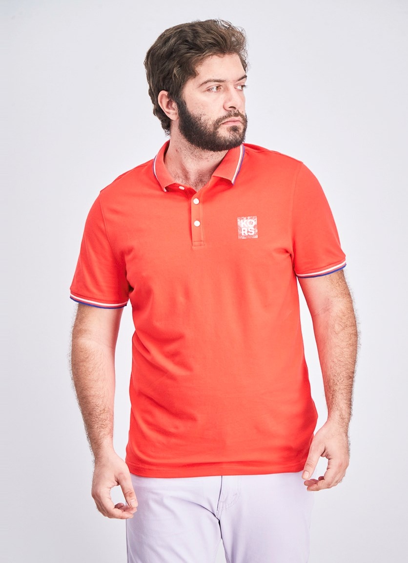 Men's Contrast Polo, Red