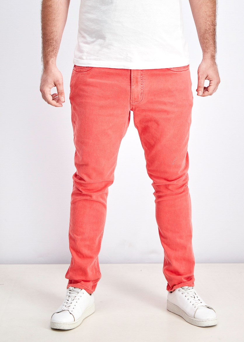 Mens Parker Denim Stretch Slim Jeans, Sea Coral