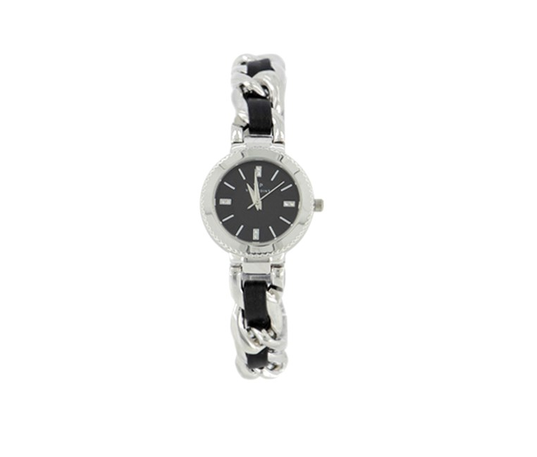 Women's With Dial Watch, Silver/Black