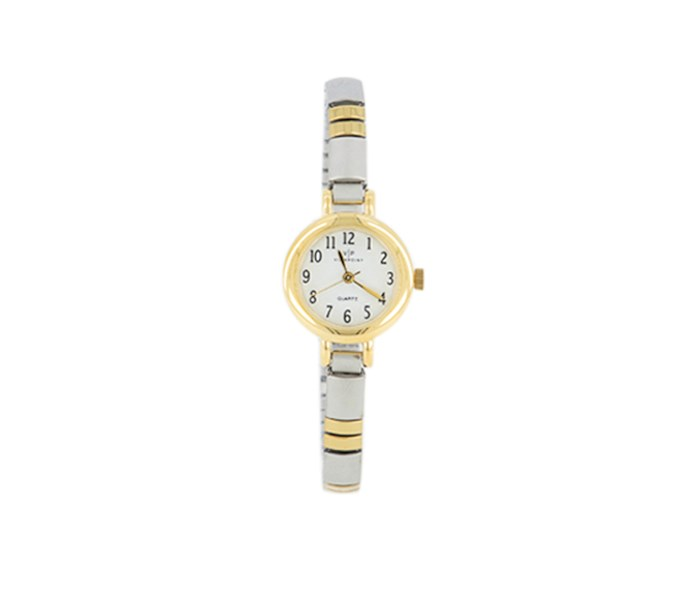 Women's Two-Tone Stainless Steel Expansion Band Watch, Gold/Silver