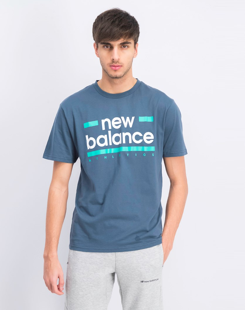 Men's Graphic Crew Neck Tee, Orion Blue