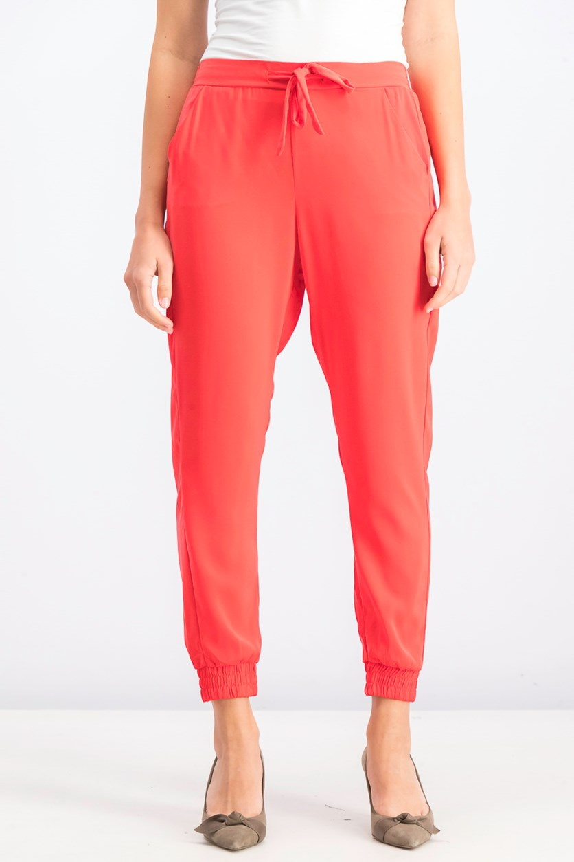 Women's Pull On Pants, Coral