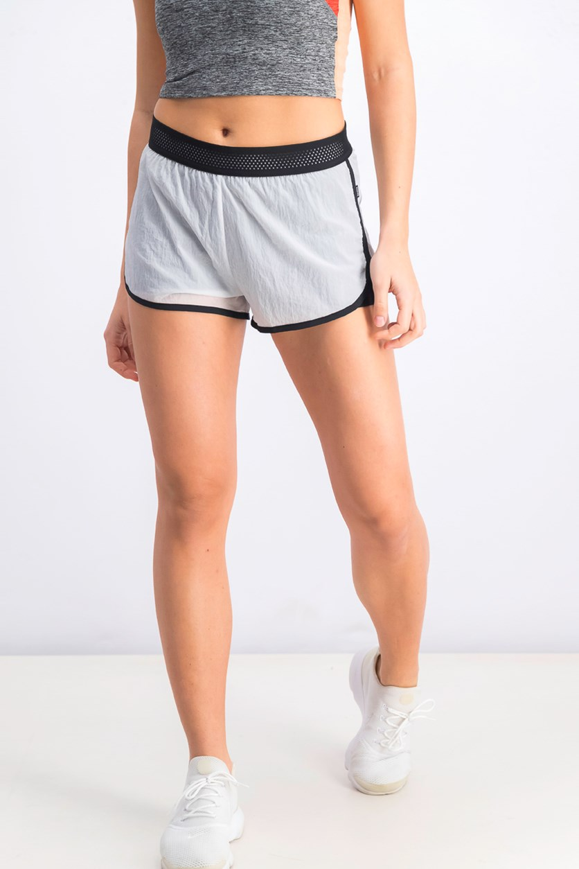 Women's Sport Short, White/Black